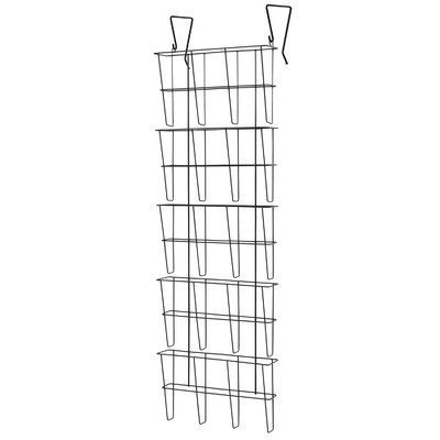 Buddy Products Wire Ware 5 Pocket Literature Rack, Legal Size, 3 x 40 x 16 Inches, Black (6305-4) by Buddy Products -