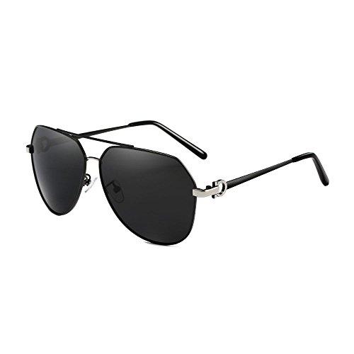 Pilot Polarisierte Männer Sonnenbrillen Legierung Rahmen Fahren Sonnenbrillen UV400 Leichtbau Brillen Schwarz Linsen