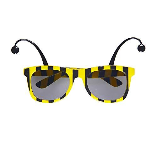Widmann 0312B Bienenbrille mit Fühlern, Gelb/Schwarz, - Finden Sie Lustige Kostüm