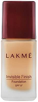 Lakme Invisible Finish SPF 8 Foundation, Shade 01, 25ml