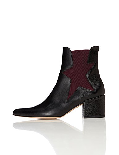 Chelsea Damen Schuh (FIND Damen Choir Chelsea Boots, Schwarz (Black), 38 EU)