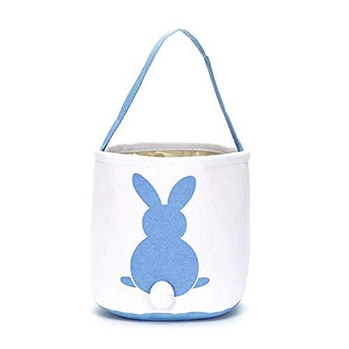 AILHL Ostern Aufbewahrungseimer Egg Hunt Korb mit Niedlichen Kaninchen Muster Design tragen Geschenk Eier Süßigkeiten und Spielzeug für Kinder