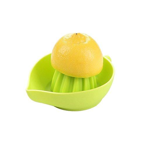 Exprimidor de Cocina Manual de Naranjas, Limones y Cítricos para Zumos Fabricado en Silicona de Grado Alimentario libre de toxinas, bordes redondeados, portátil y apto para lavavajillas color verde