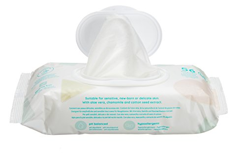 Amazon Brand -  Mama Bear Sensitive Unscented baby wipes– Pack of 15 (Total 840 wipes)