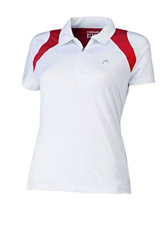 HEAD Club - Polo de tenis para mujer, tamaño XL, color blanco / rojo