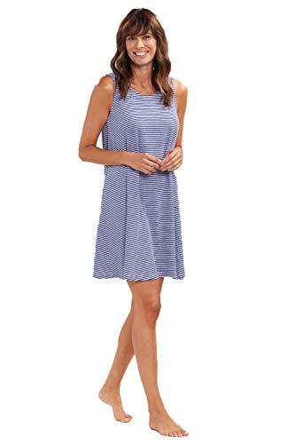 Rösch Kleid Damen ohne Arm Frottee-Strandkleid im Ringel, 1195560 46 Ringlet Navy