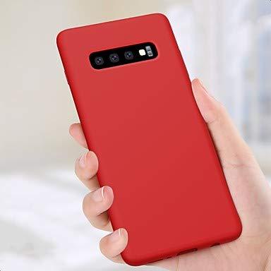 HL CASES/COVERS Schöne Fälle, Abdeckungen, Nillkin case für Samsung Galaxy stoßfest/kindersicher rückseitige Abdeckung einfarbig weichem silikon (Farbe : Rot, Kompatible Modellen : Galaxy S10 Plus) - Edge Kindersicher