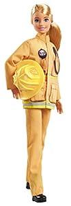 Barbie Quiero Ser Bombera, muñeca 60 aniversario con accesorios (Mattel GFX29)