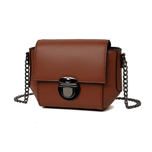 YANFEI Umhängetasche Handtasche PU Mode Schultertasche Kette Damen Tasche Kleine quadratische...