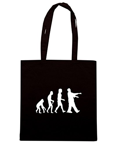 T-Shirtshock - Borsa Shopping EVO0063 Zombie Evolution Maglietta Nero