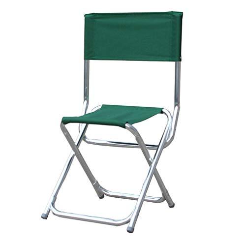AGLZWY Chaise Portable Polyvalent Aluminium Tissu Oxford Épaissir Antidérapant De Plein Air Fauteuil Chaise Pliante, Vert, 34X34X44-85CM (Color : Green, Size : 34X34X44-85CM)