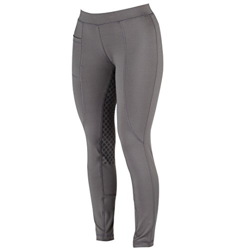 Dublin Ladies Cool-It Gel Riding Tights 32 inch Charcoal - Gel-tight