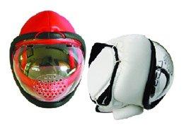 Kudo Rot Optisch Head Guard Kampfsport Helm Training Voll Gesichtsmaske - erwachsene Größe