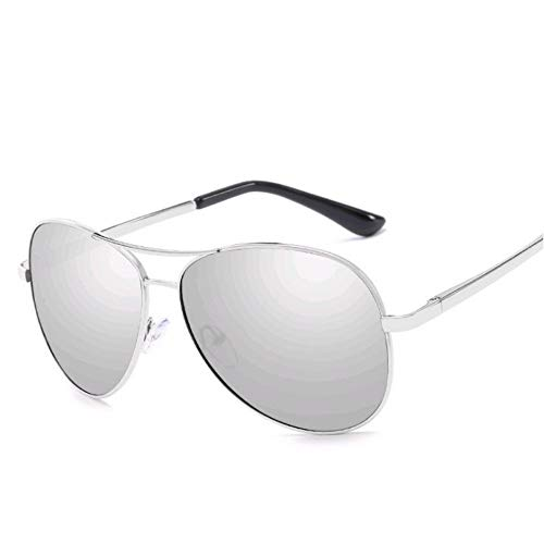 Flyasyanjing Polarisierte Sonnenbrillen Männer Frauen Luftfahrt Treibenden Chameleon Verfärbung Sonnenbrille Schattierungen Designer Helle Und Komfortable Sommer Uv400 Silber - Silber