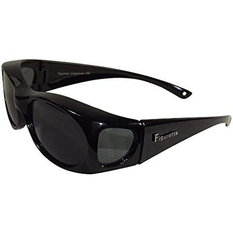 Figuretta: SOVRAOCCHIALI | OCCHIALI DA SOLE da indossare sugli occhiali da vista | polarizzati - protezione UV 400 - Categoria di filtro UE 3 | più colori