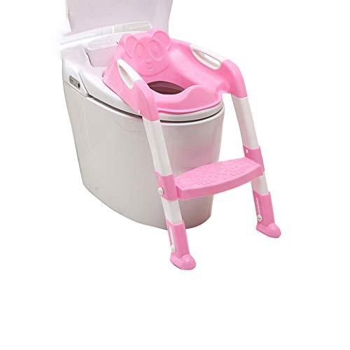 Töpfchensitz für Kinder Kleinkind-WC Töpfchenstuhl mit Stabiler Rutschfester Trittleiter Leiter mit bequemen Griffen und Spritzschutz Faltbarer Toilettensitz für Jungen und Mädchen - Bequemen Griff