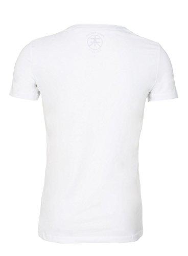 Akito Tanaka Slim Fit T-Shirt NAGASAKI FISHER Japan Style Shirt Weiß