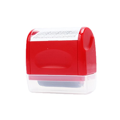 xmdz-mini-secure-stamper-privacy-protection-seal-roller-for-personal-use-34cm-garble-red