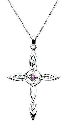 Heritage Damen-Anhnger Sterling Silber 46cm 9233AM (Amethyst Sterling Silber Kruzifix)