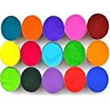 Vital Colors Set of 15 Different Color Rangoli Colors Powder 100 Grams in Each Packet