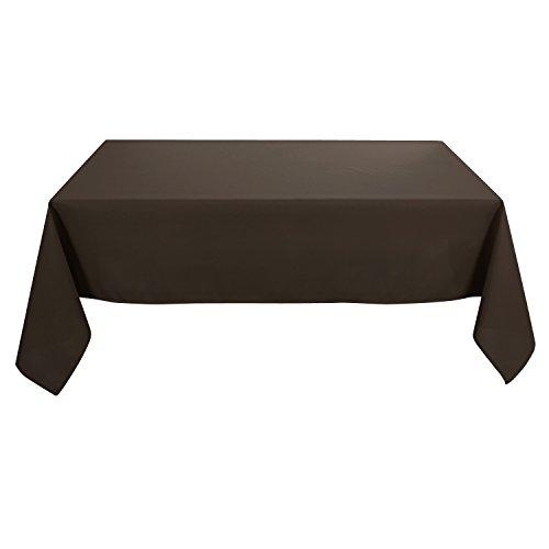 Deconovo Tischdecke Wasserabweisend Tischwäsche Lotuseffekt Tischtücher 130x160 cm Dunkelschoko