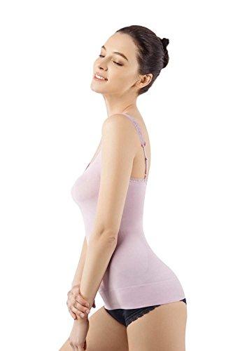 MD Stringer Damen Tops Shapewear Body Shaper Bauchweg Miederkleid Trägertop Purpur