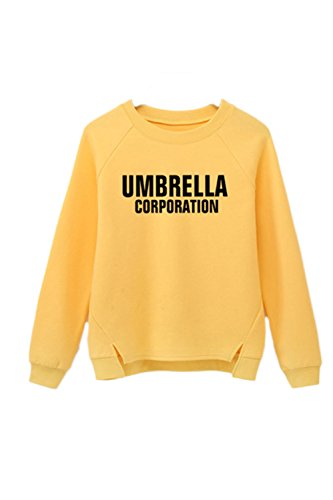 Manches longues Loose lettre Sweatshirt Yacun féminin yellow