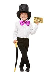 Smiffys 50278 - Kit oficial de Roald Dahl Willy Wonka, talla única, color negro