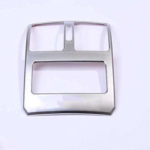 Accessoire intérieur de véhicule Automatique, pour GLK Classe X204, Cadre de Ventilation de rangée arrière, Garniture de Cadre en Plastique ABS de Voiture, Argent, 1 pcs/kit