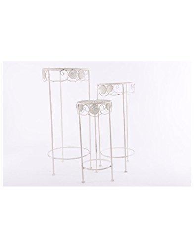 Homeline-antik (Homeline Tische Metall - Farbe antik weiß. Set 3 tische)
