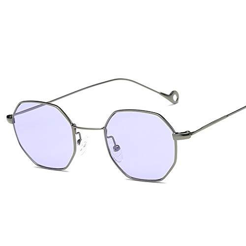 Y-WEIFENG Achteckige Vintage Metal Frame UV400 Sonnenbrille für Männer, Frauen (Artikelnummer : Hc6545k)