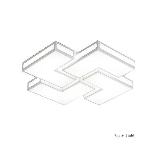 9 Flush-mount (ZHANGRONG-Gute Qualität- Flush Mount Kreative Deckenleuchte Einfache moderne Wohnzimmer Study Schlafzimmer Beleuchtung Fixtures -Efficiency:A+++ (Farbe : Weiss-Weiss-Licht-65 * 65.9.5cm))