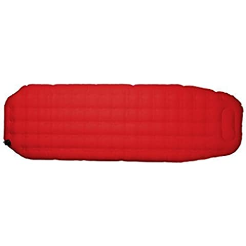 Highlander Explorer Air Mattress Mat Camping Airbed With Biult In Pump - Red by Highlander
