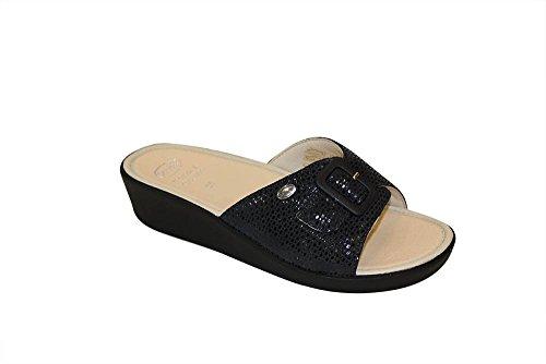 Scholl size 36navy blue cuscino memory mango sandali da donna