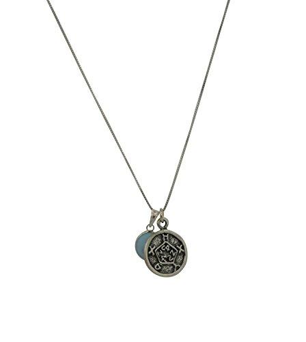 King Solomon Legend Amulette Sicherheit & Defense Solomon Dichtung Silber Halskette mit Evil Eye Charme (Halskette Eye Protection Evil)