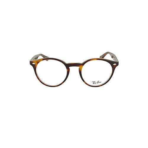 Ray-Ban Unisex-Erwachsene 0RX5376 Brillengestelle, Braun (Top Black/Dark Brown/Yellow), 47
