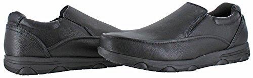 Moda Essentials Herren-Slip ölbeständig Arbeit Küche Schuhe Oxford UK Größen Schwarz/Schwarz