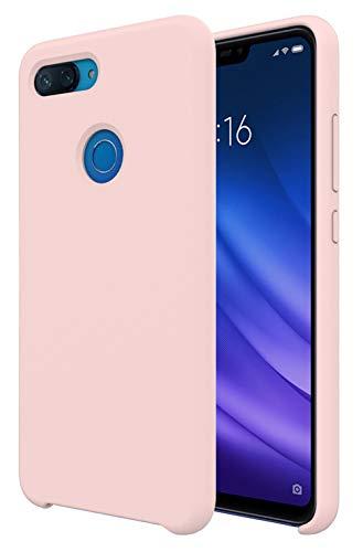 Pacyer Funda Compatible conXiaomi Mi 8 Lite, Ultra Suave TPU Gel de Silicona Case Protectora Suave Flexible teléfono Absorción de Impacto Elegante Carcasa Compatible Xiaomi Mi 8 Lite (Rosa)