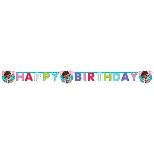 Stuffins Happy Birthday Banner (Doc Mcstuffin Party Supplies)