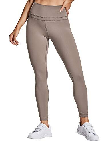 CRZ YOGA Damen Sports Yoga Leggings Sporthose mit Hoher Taille-Nackte Empfindung -19'' / 25'' Lunar Rock L(42)