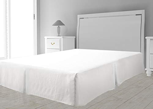Intemporel Cubre somier Microfibra 90 x 190 cm Blanco