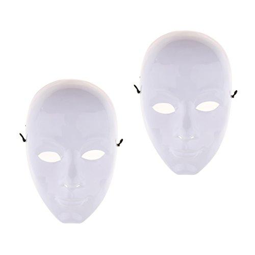 Sharplace 2 Stü DIY Unlackiert Maske Weiß Leere Gesichtsmaske Maskerade Kostüm Masken