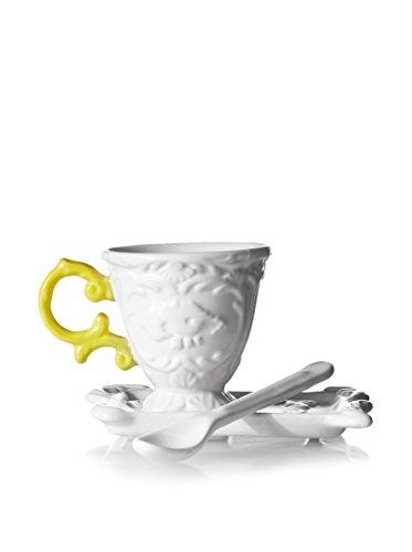 'Set de Caffe' en Porcelaine I-Wares avec Manche – Jaune
