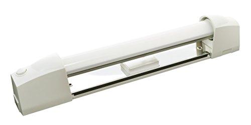 Tibelec 311930 Applique Salle de Bain Blanc avec Tube LED + Interrupteur/Diffuseur Plastique