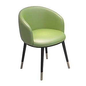 MJK Stühle, Akzent Wohnzimmer Sessel Stühle Leder Stoff mit Metallbeinen Küche Ferienhaus Extra Room Lounge Chair,T5