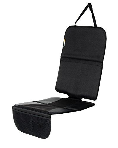 Schutzunterlage, Auto-Kindersitzunterlage, Autositzschoner, Unterlage, Schoner, Autositzschutz, Isofix geeignet, Babyblume MAXI, schwarz