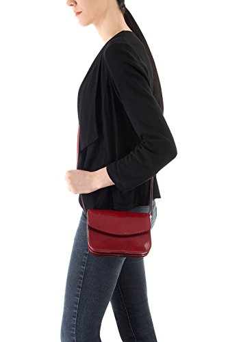 Montte Di Jinne, Borsa a tracolla donna Rosso Red Navy