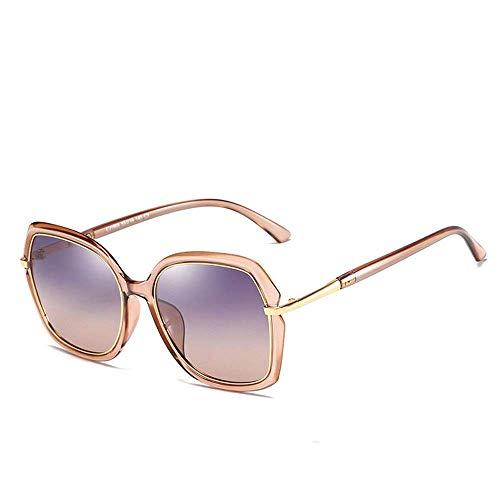 BJYG Sportsonnenbrille Große polarisierte Unisex-Sonnenbrille mit UV400-Schutz Sonnenbrille Laufen, Reiten, Angeln Sonnenbrille (Farbe: Kaffee) -