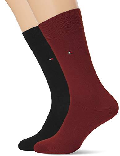 Tommy Hilfiger Herren TH MEN CLASSIC 2P Socken, Mehrfarbig (Bordeaux 070), 43/46 (Herstellergröße: 043) (2er Pack)
