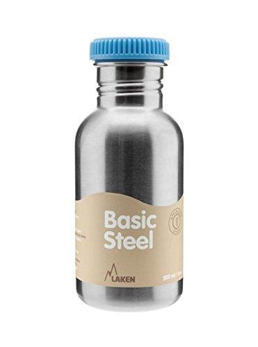 500 Laken (Laken - Edelstahl-Flasche und Verschluss. 500ml blau)